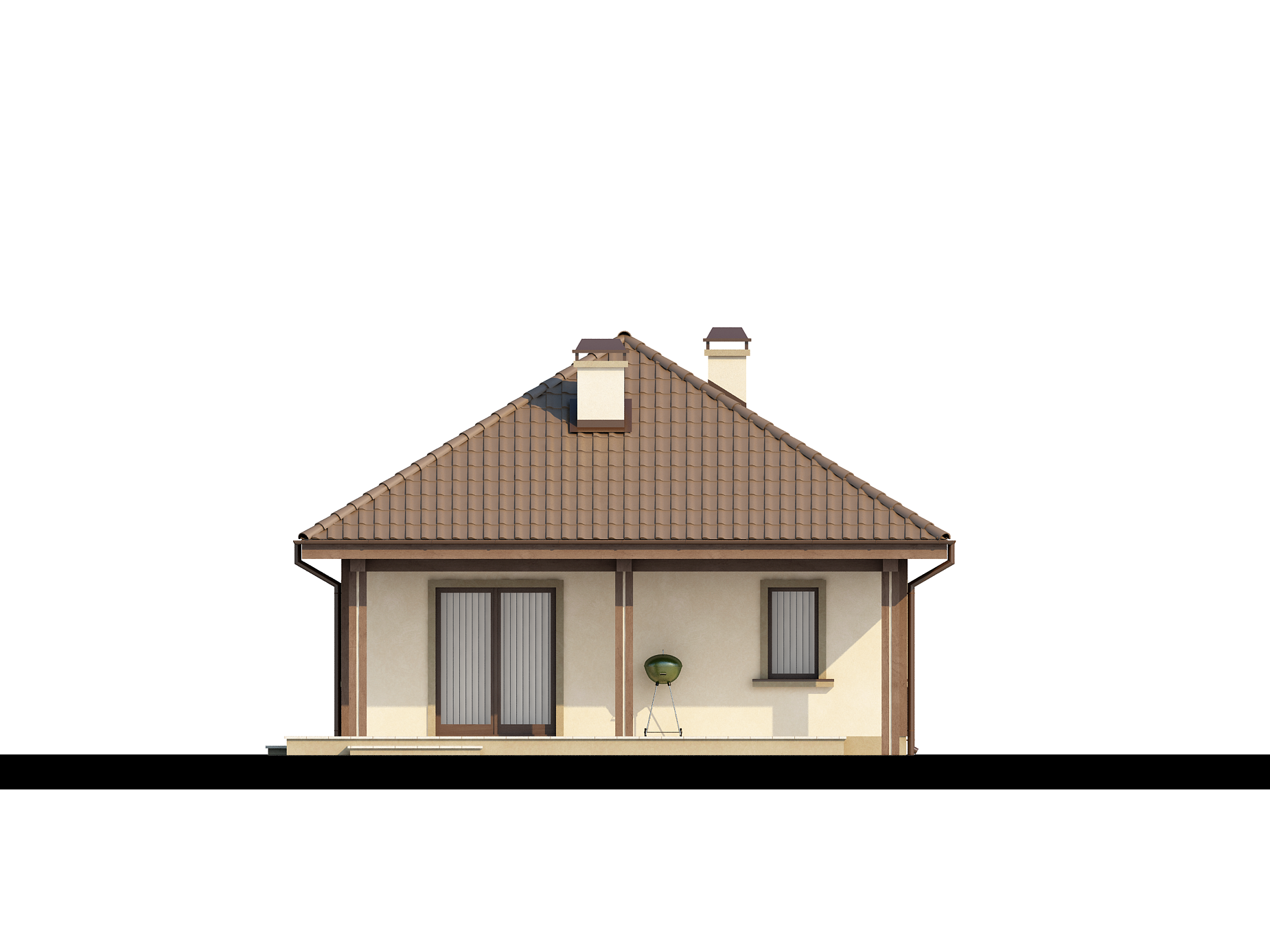 Z85 a traditional house covered with a pyramid hip roof with practical useable attic z500 - Traditional houses attic ...