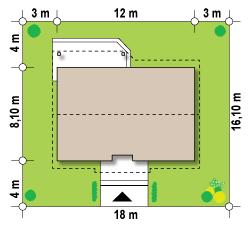 Usytuowanie budynku na działce