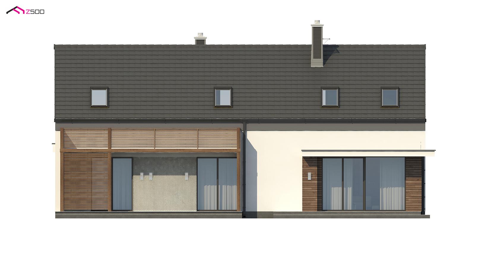 Projekt domu Z193 Dom dwurodzinny z osobnymi wejściami i ...