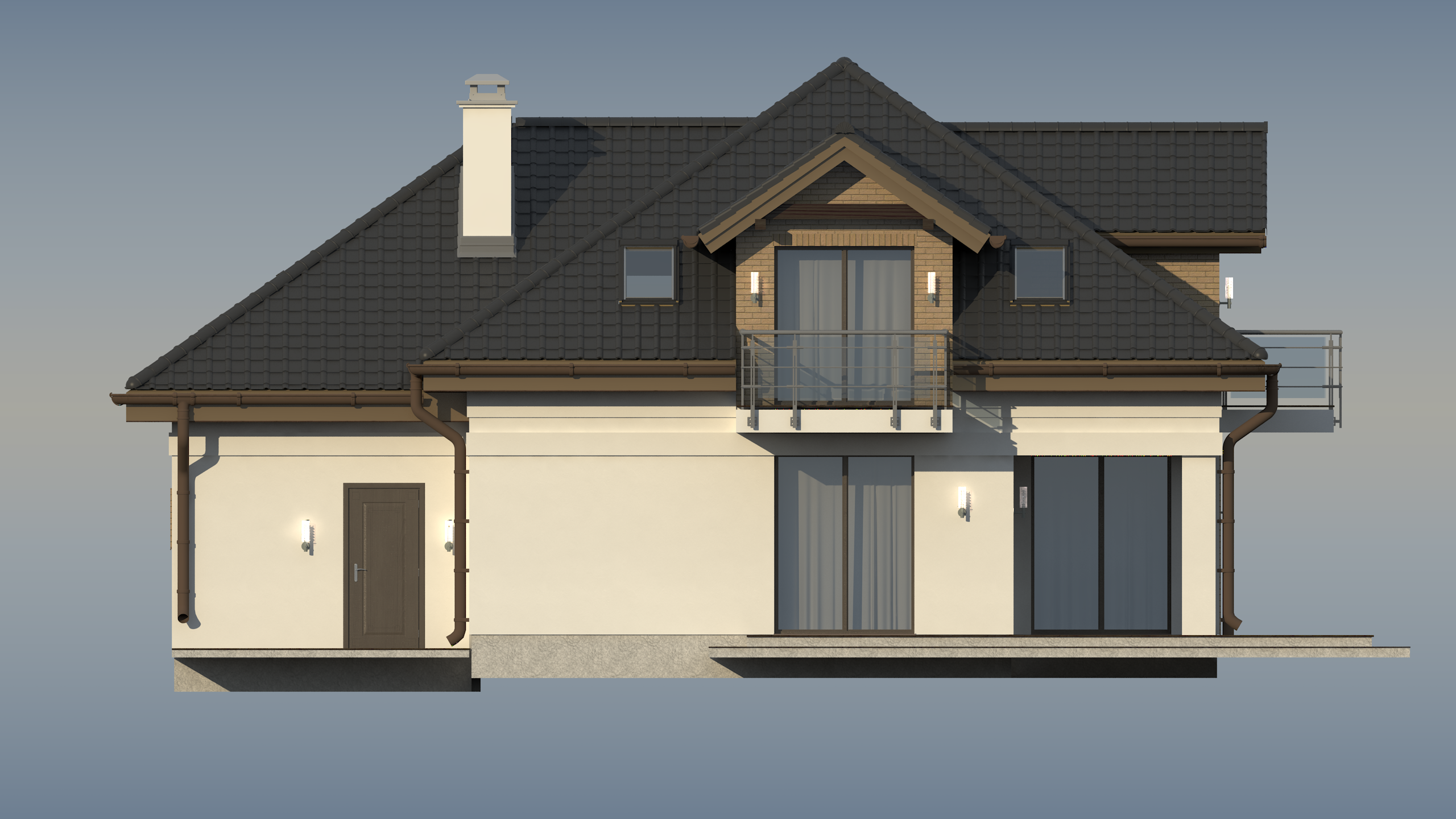 Z283 a comfortable and functional house in traditional style with a spacious day zone z500 eesti - English style house plans tradition and functionality ...