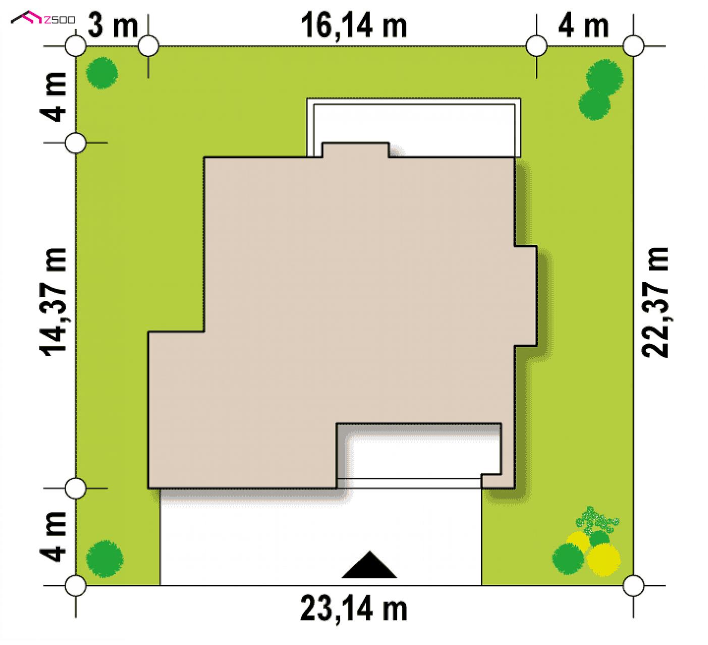 Projekt Domu Zx62 Piętrowy Dom O Zwartej Bryle Z Garażem Na Dwa Auta