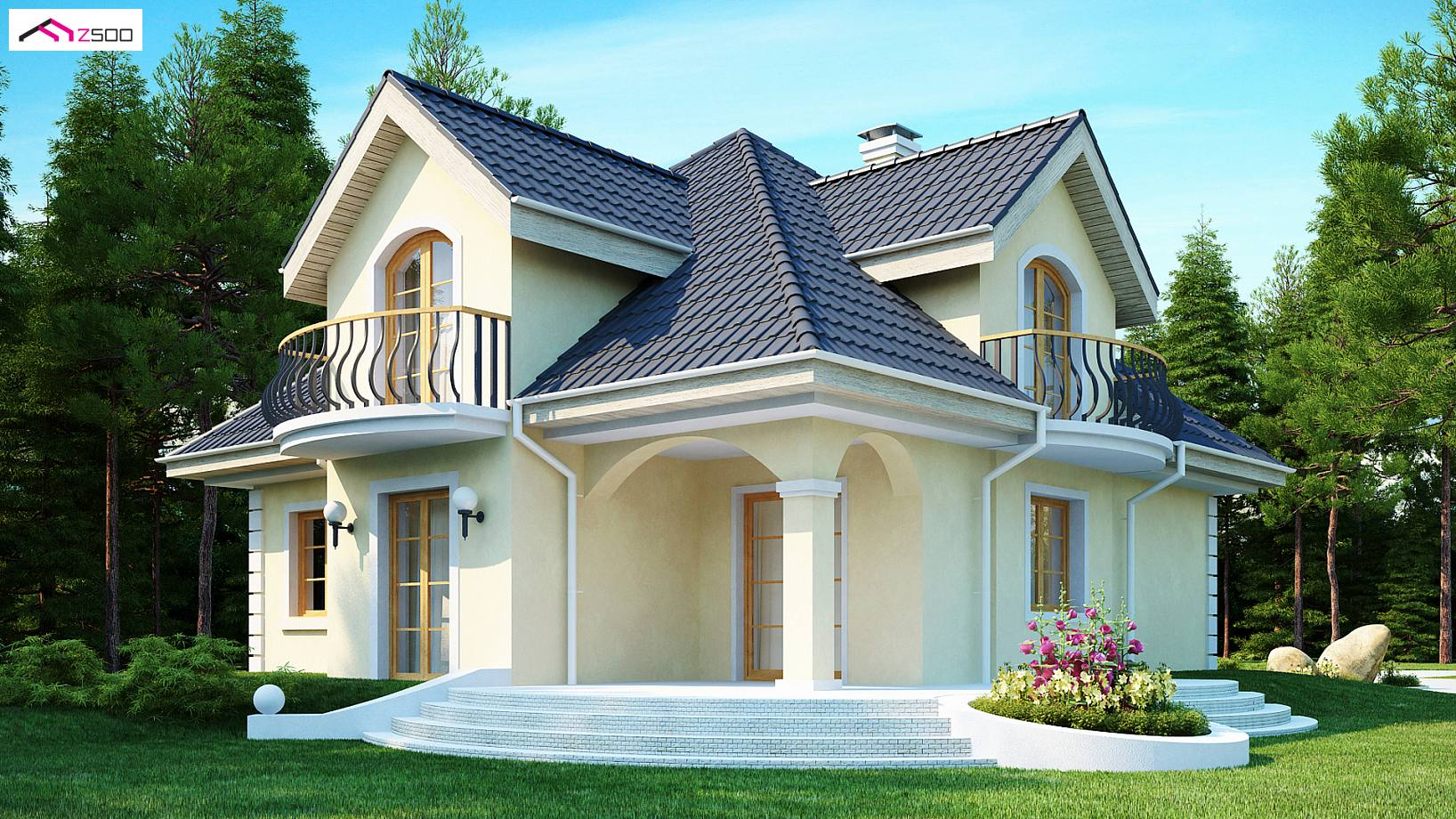 Projekt domu z27 elegancki dom w klasycznym stylu ze House beautiful book 2017