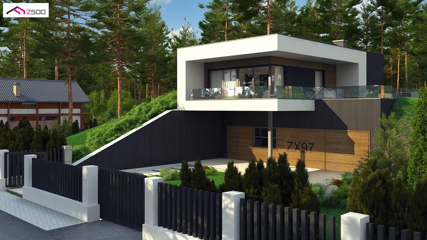 Projekt domu zx97 nowoczesny dom pi trowy z zielonymi - Planos de viviendas unifamiliares ...