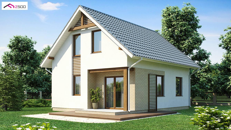 Projekt domu z71 atwy i tani w budowie dom z dachem dwuspadowym tak e na ma dzia k - Small attic house plans ...