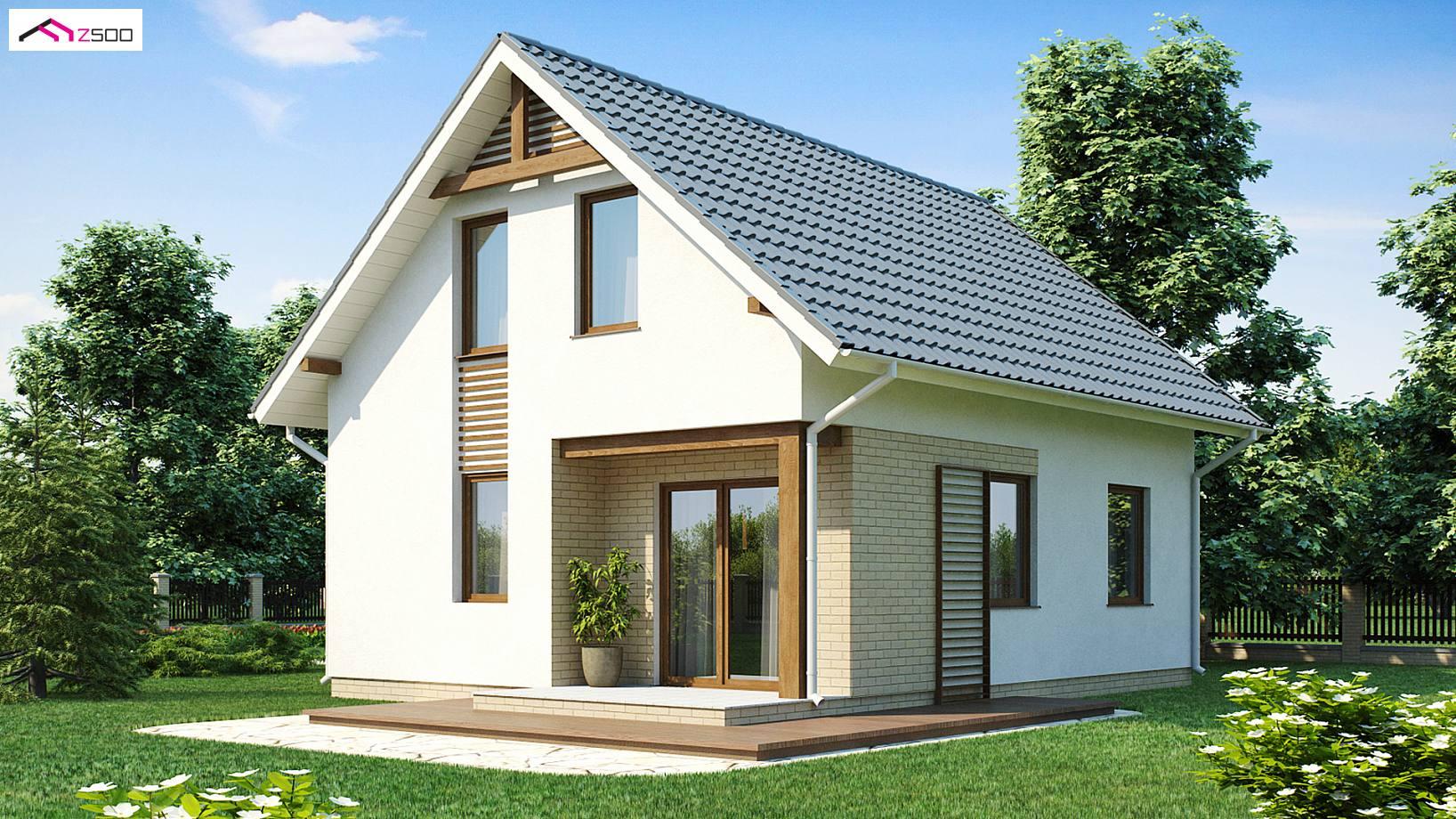 Projekt domu z71 atwy i tani w budowie dom z dachem for Small house design 100 sqm