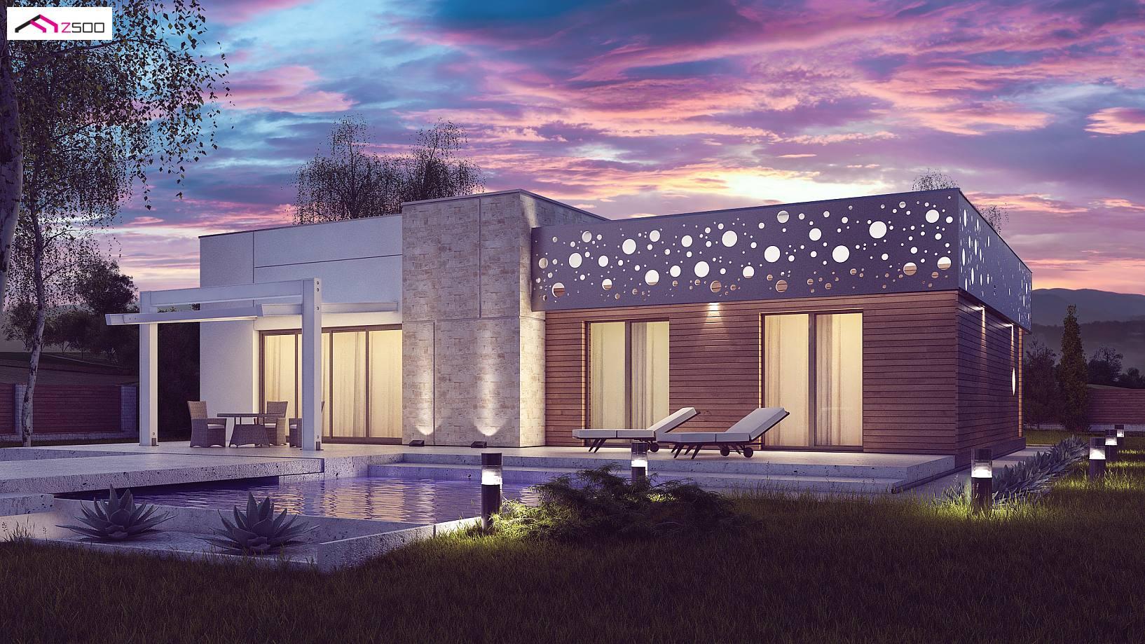 Projekt Domu Zx115 Komfortowy Dom Parterowy Z P Askim