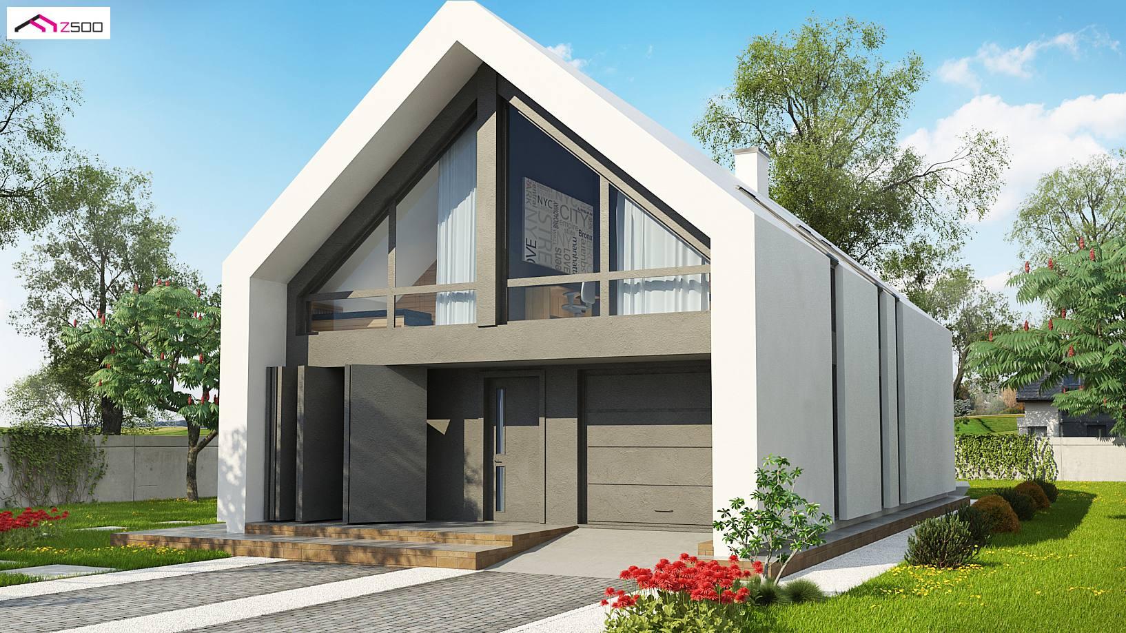 Projekt domu z215 a nowoczesny dom typu stodo a z dachem 2 for Casa minimalista uy
