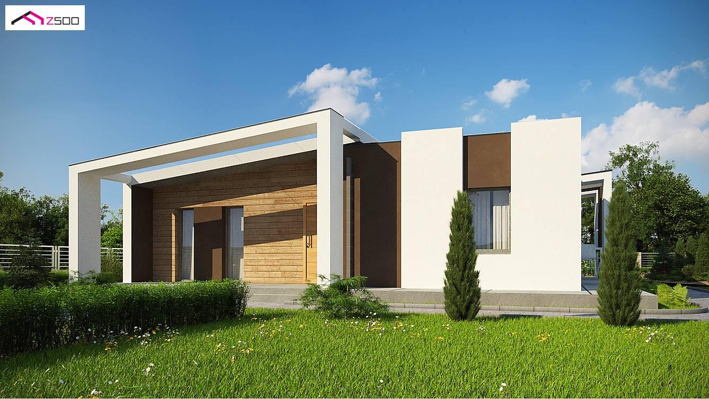 Projekt domu zx57 powi kszony wariant z trzema pokojami for 500 square meters house design